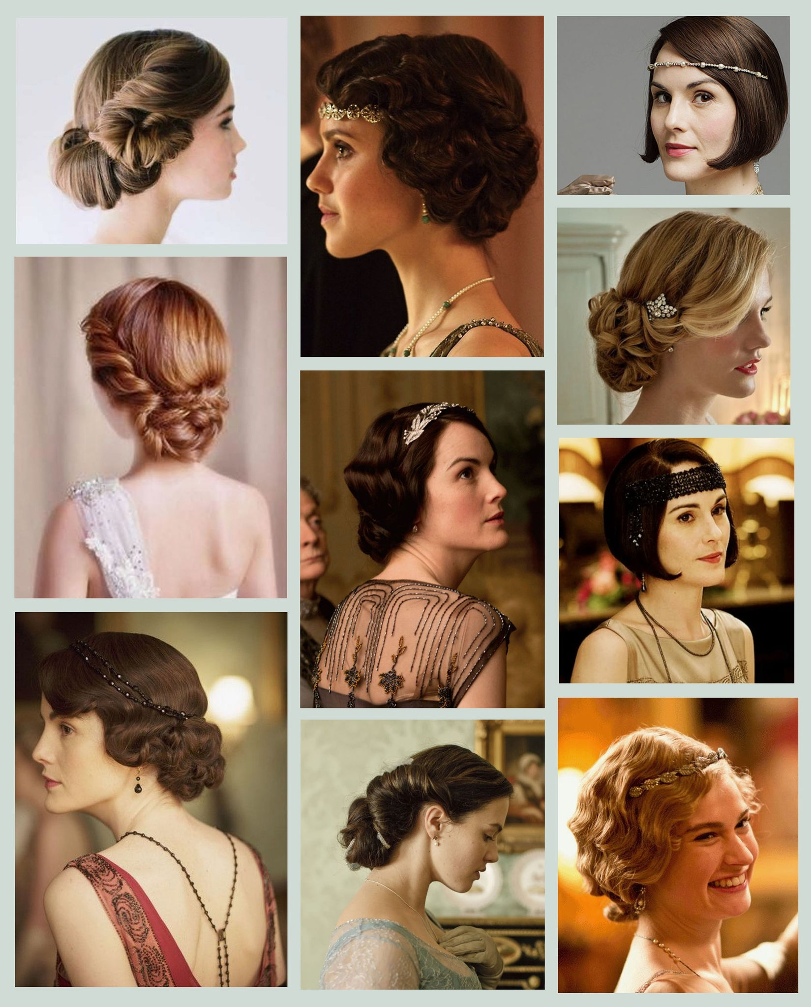 Downton Abbey hairstyle vintage wedding inspiration