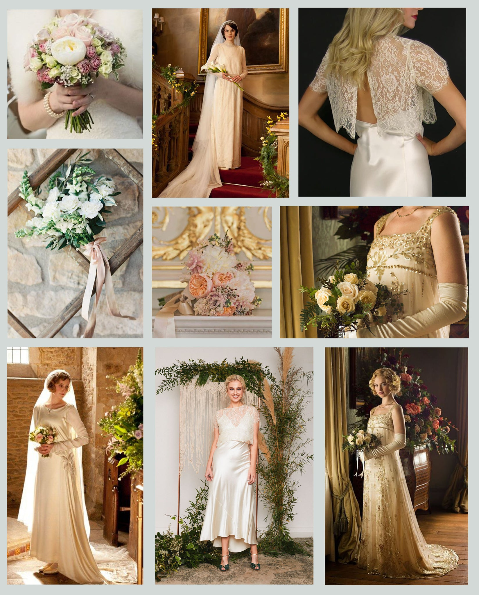 Downtown Abbey Themed Wedding Vintage Wedding
