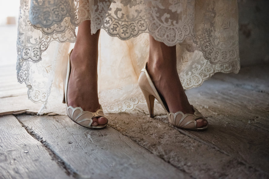 Rachel Simpson Isabelle nude leather shoes wedding shoes
