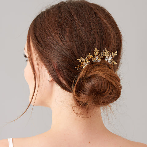 Fern Gold Hairpins