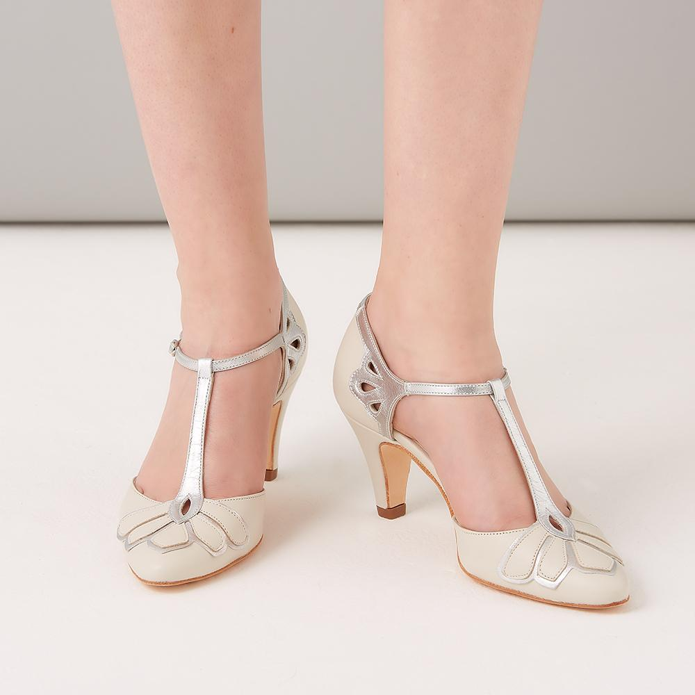 Rachel Simpson Ivory Low Heel Wedding Shoes