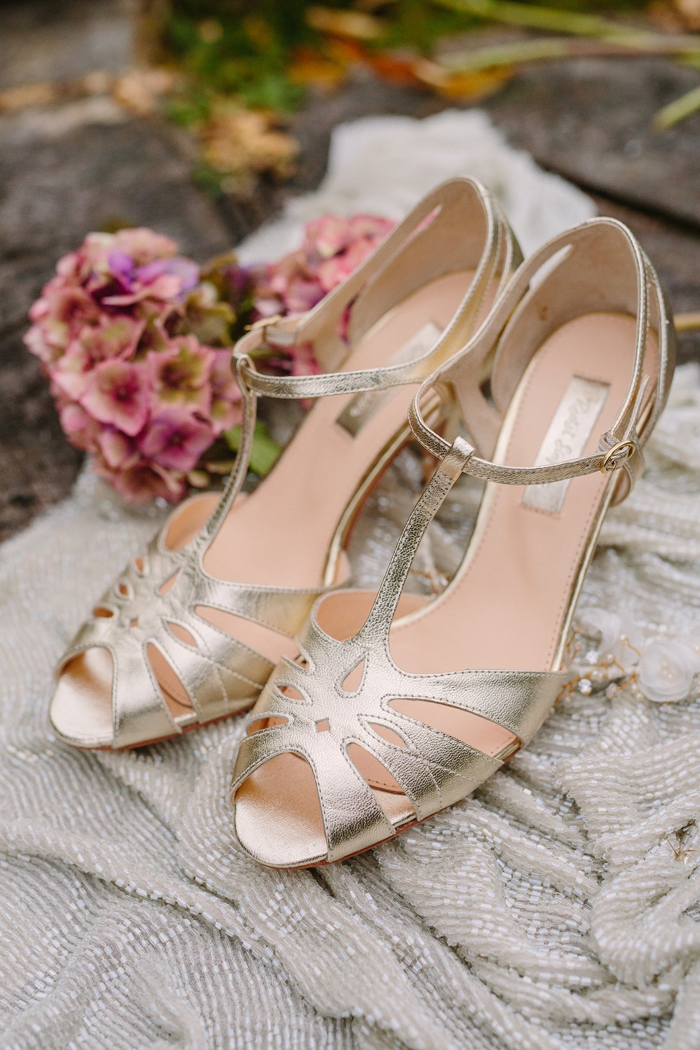 Rachel Simpson Ginger gold vintage shoes