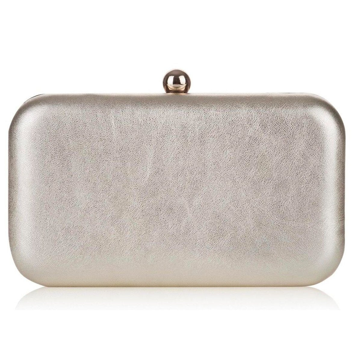 Rachel Simpson Gold Leather Clutch Wedding Bag