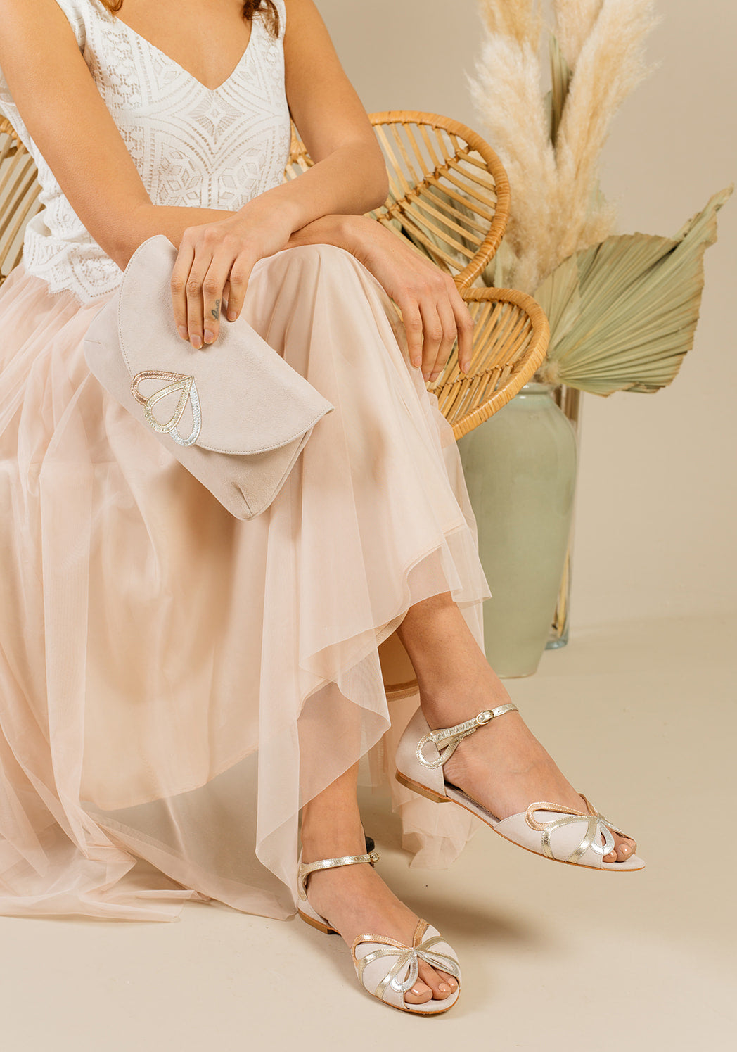 Rachel Simpson Fern flat wedding shoes