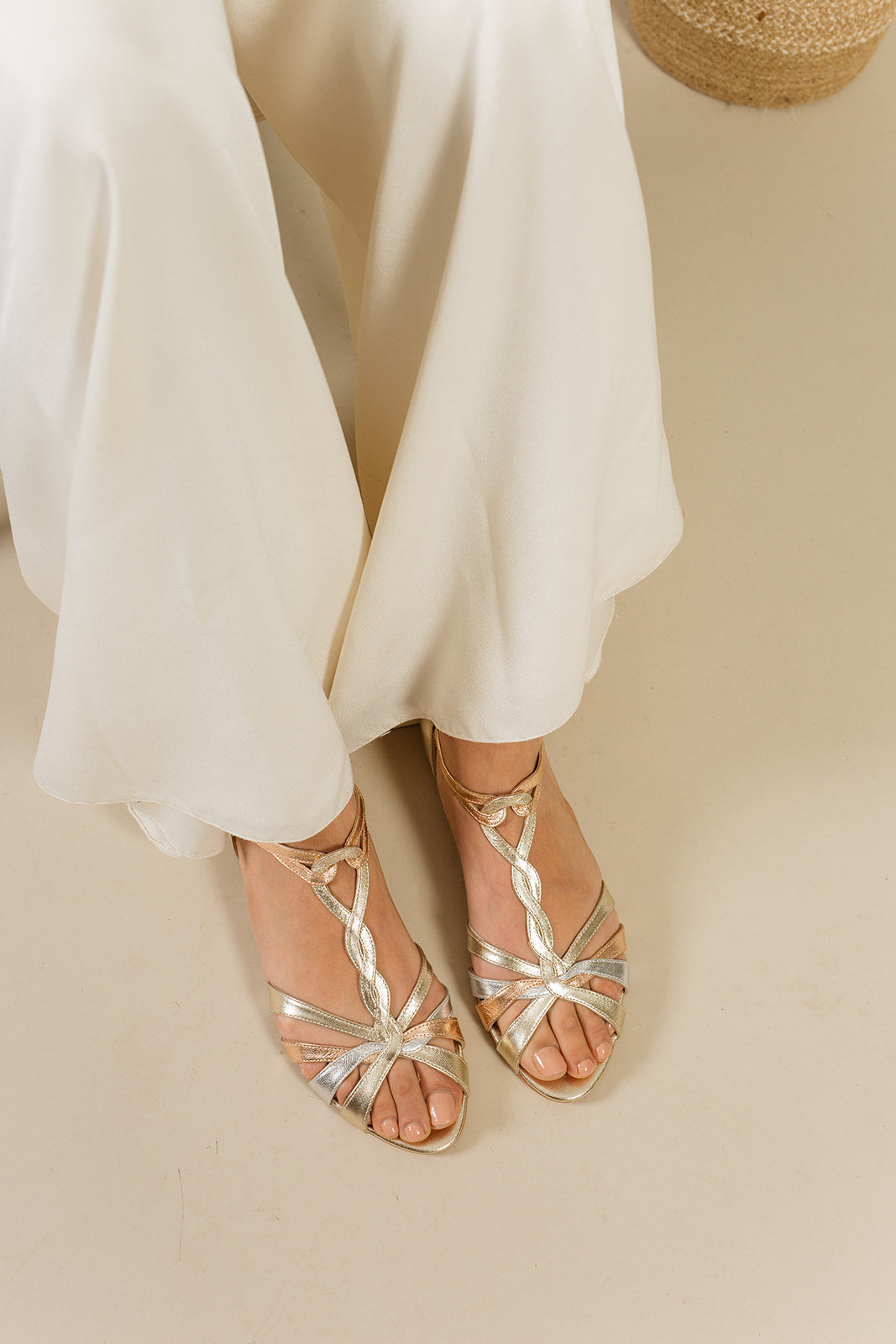 Rachel Simpson flat wedding shoes