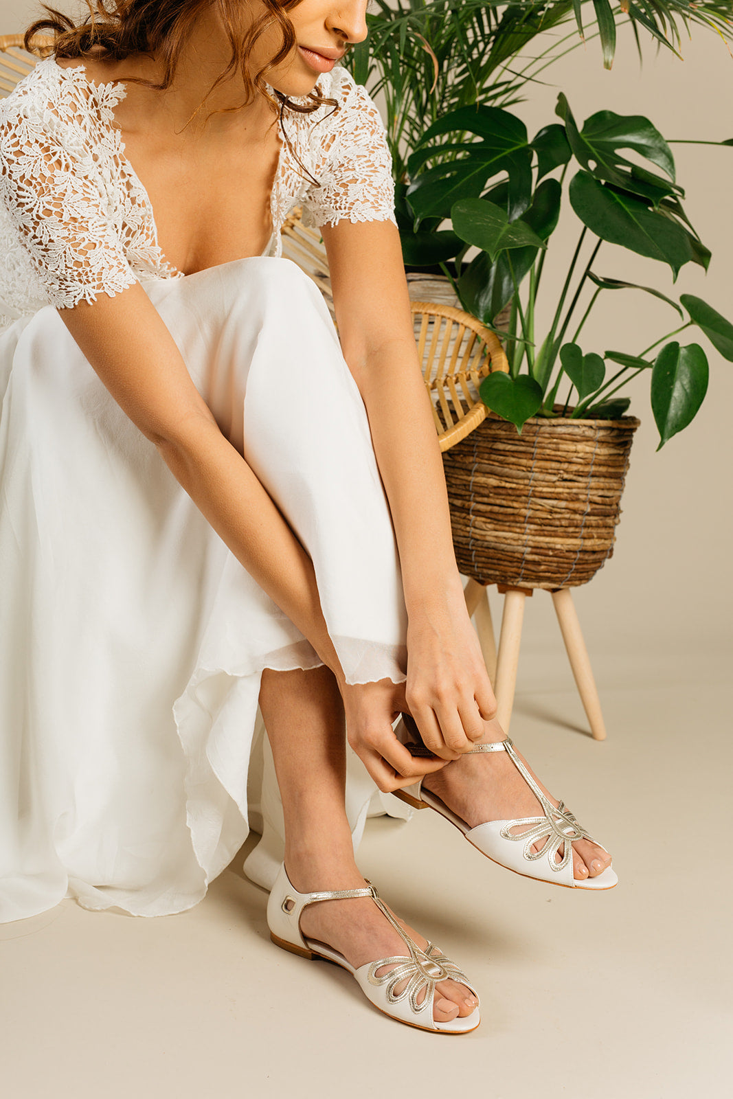 Rachel Simpson Eden flat wedding shoes