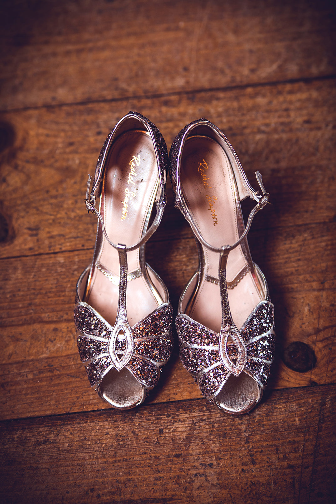 Rachel Simpson Mimosa quartz sparkly wedding shoes