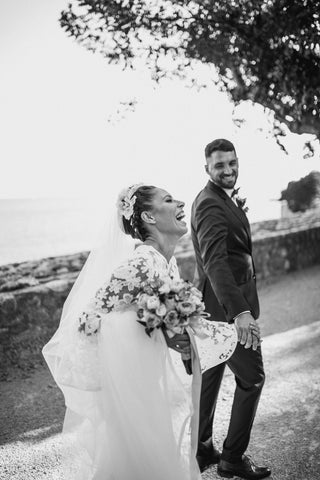 Lucija and Adrian planned their own wedding in their hometown