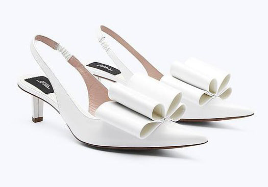 Marc Jacobs White Bow Shoes
