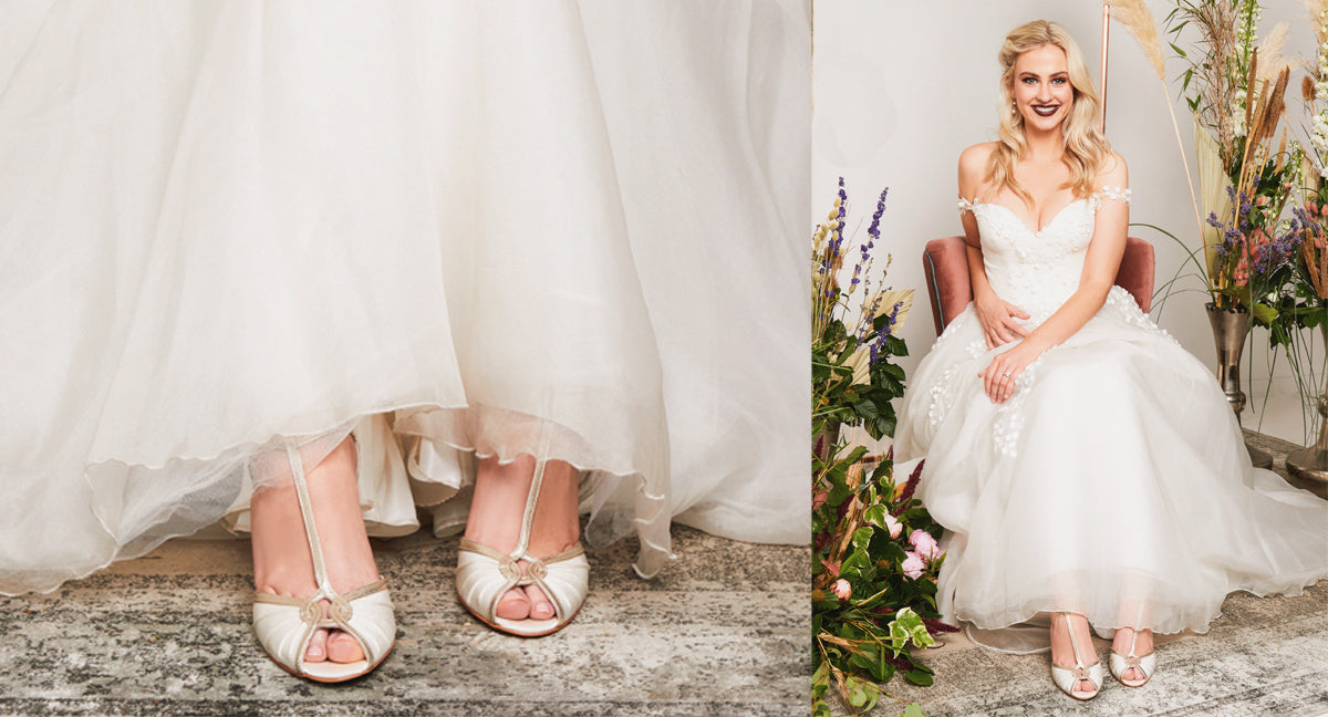 Rachel Simpson Mimi vintage wedding shoes t-bar shoes