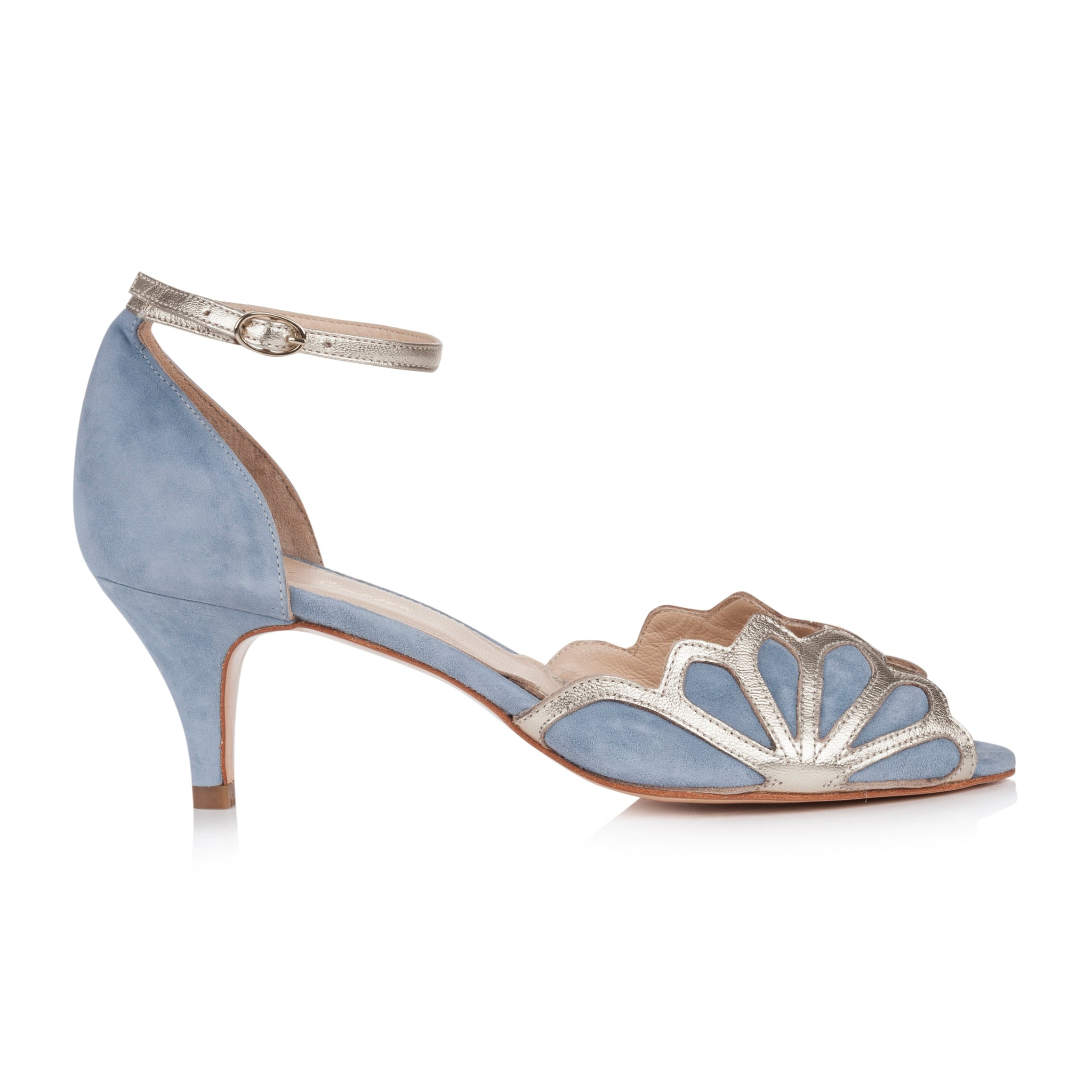 Isadora Dusky Blue Wedding Shoe