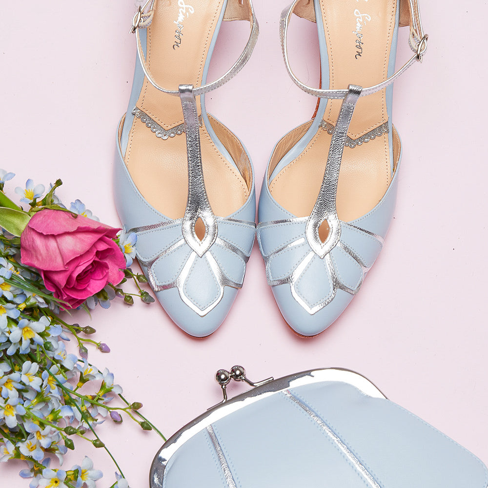 Rachel Simpson Bridal Wedding Shoes Blue Wedding Shoes Handmade Wedding Shoes