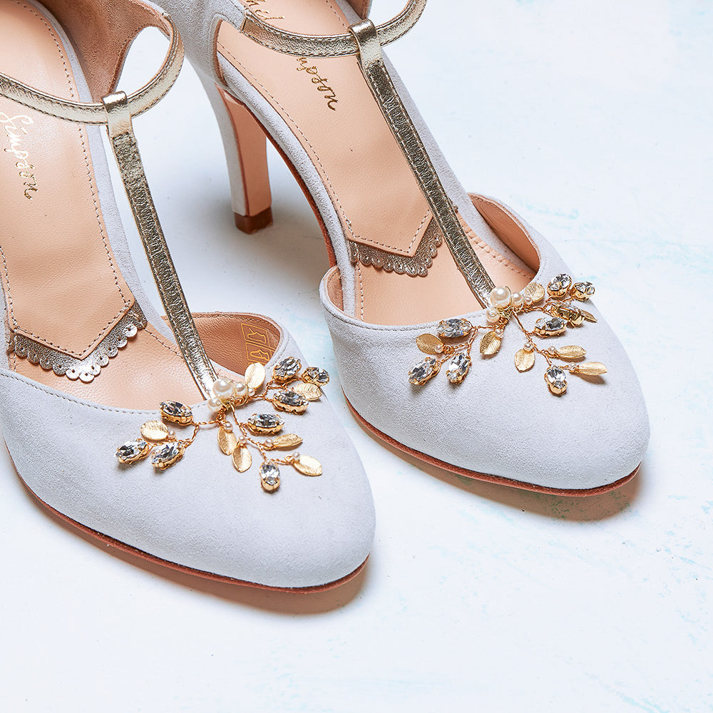 Rachel Simpson Ana ivory closed toe wedding shoes