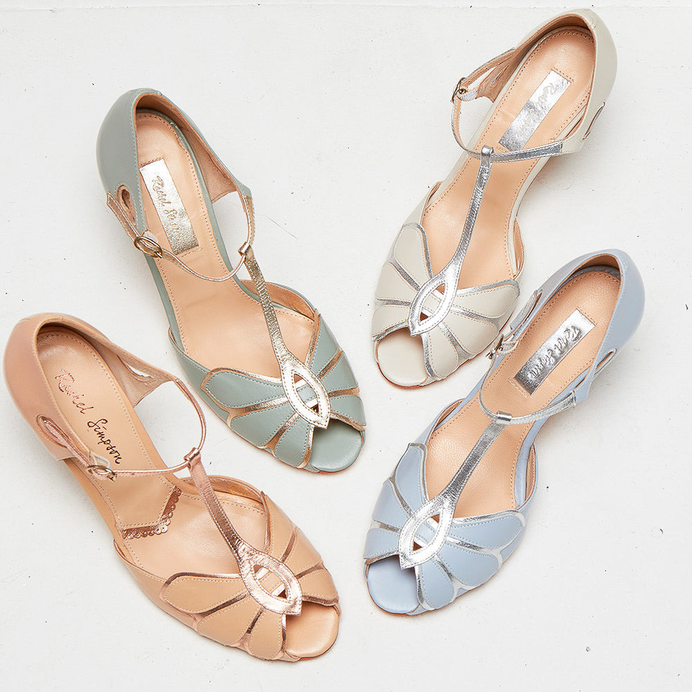 Rachel Simpson Mimosa Wedding Shoes Pastel Bridal Shoes