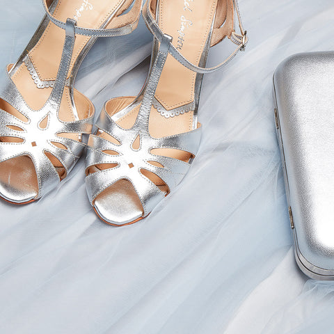 Ginger Silver wedding shoe by Rachel Simpson