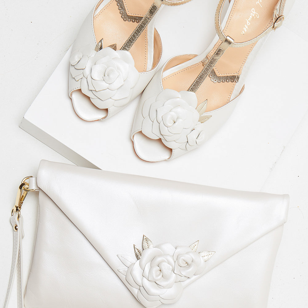 Lola-Rose embellished flower tbar vintage shoes