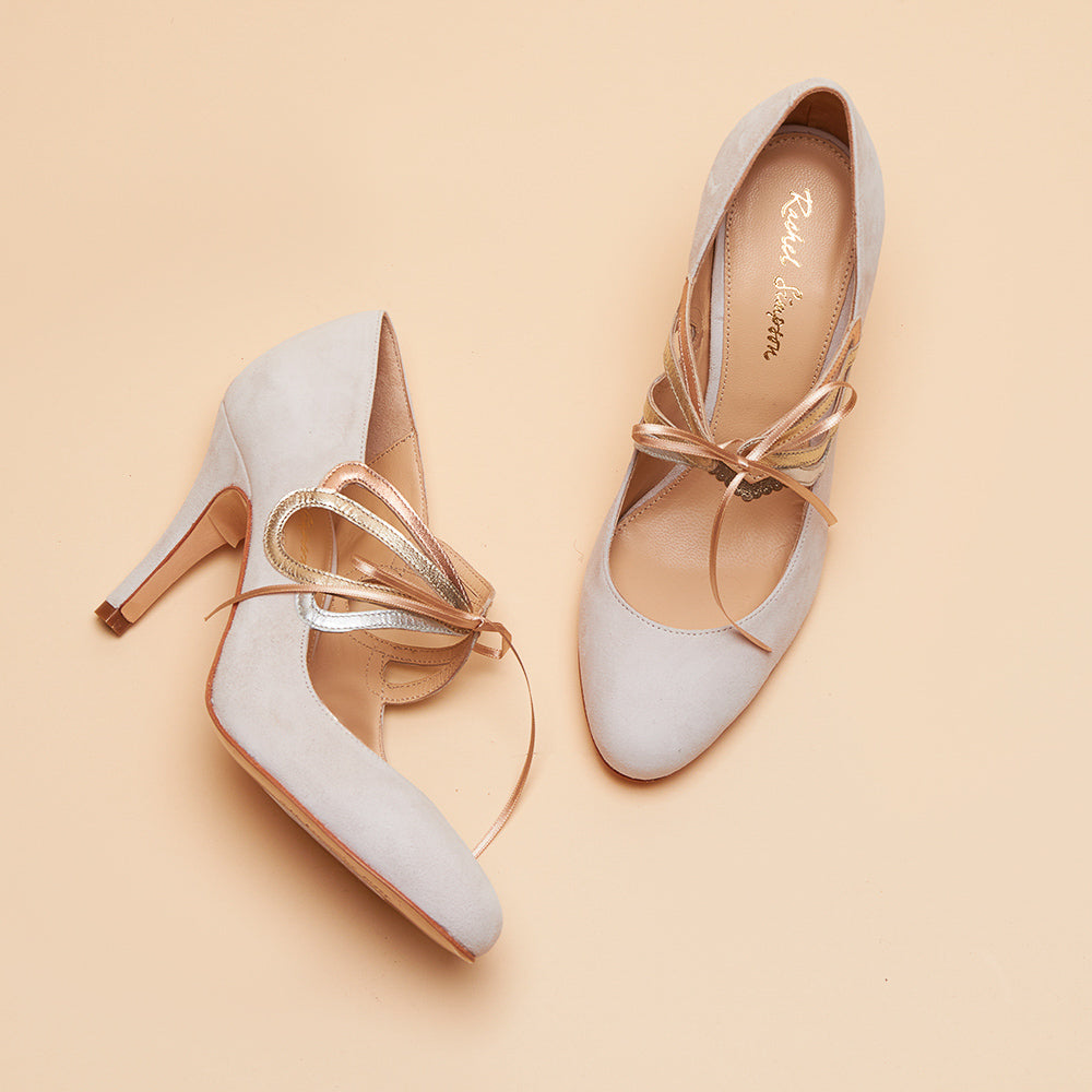 Rachel Simpson Octavia blush rose gold wedding shoes