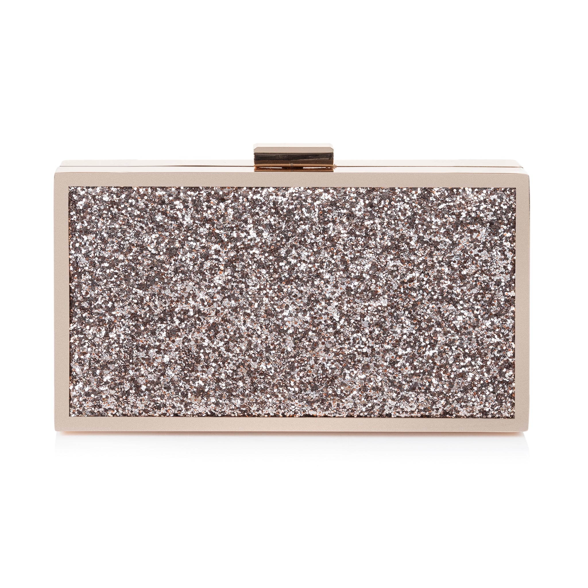 Rachel Simpson Rose Quartz Glitter Clutch Bag