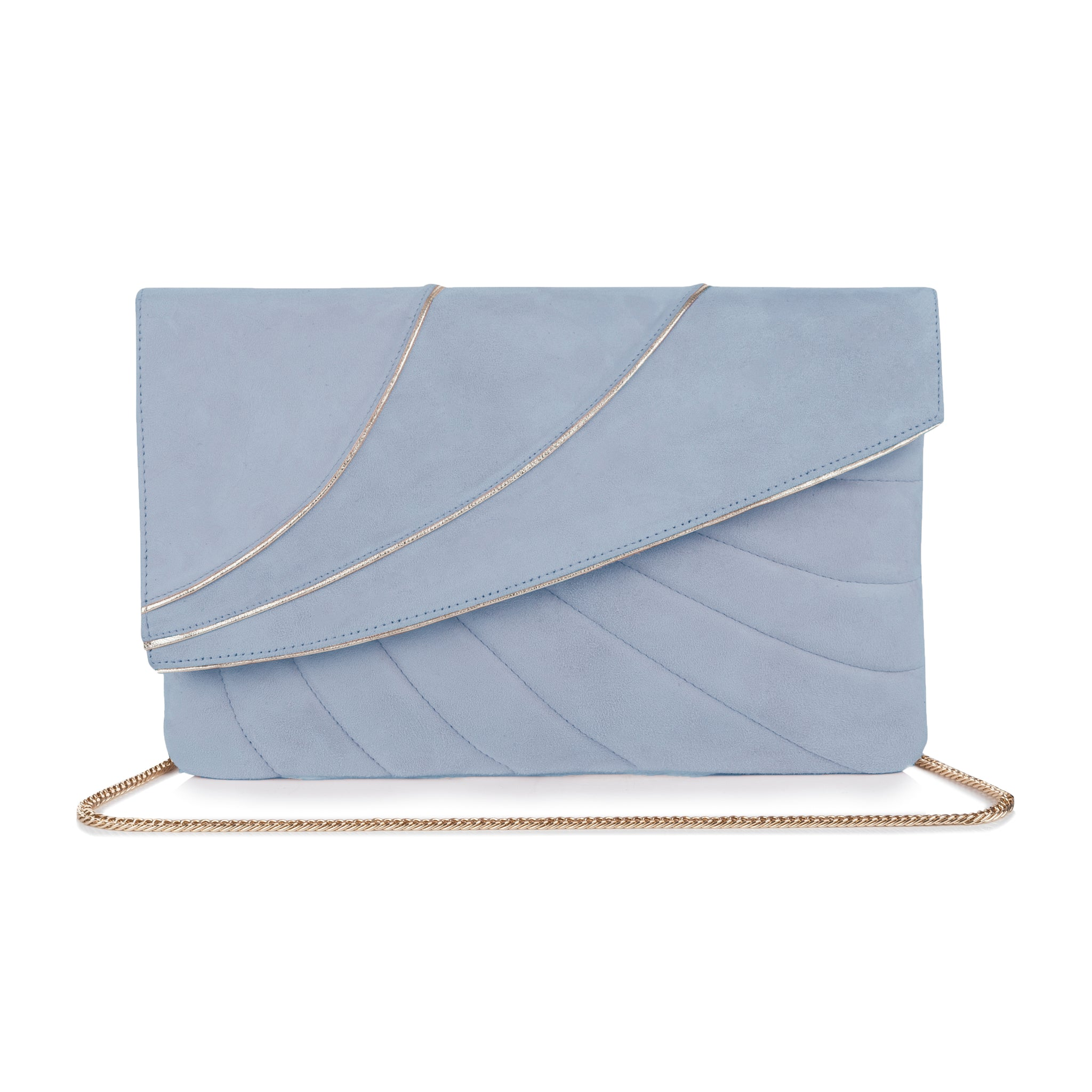 Sabine Blue Wedding Clutch