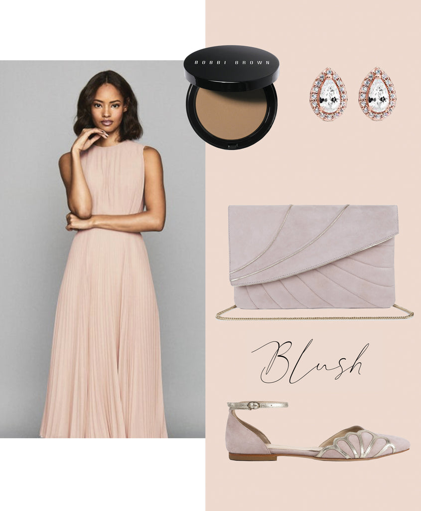 Blush wedding outfit