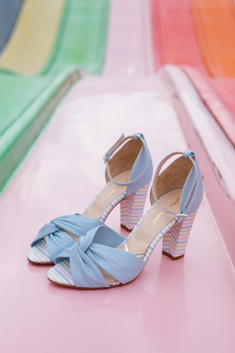 Rachel Simpson Candyfloss baby blue wedding shoes