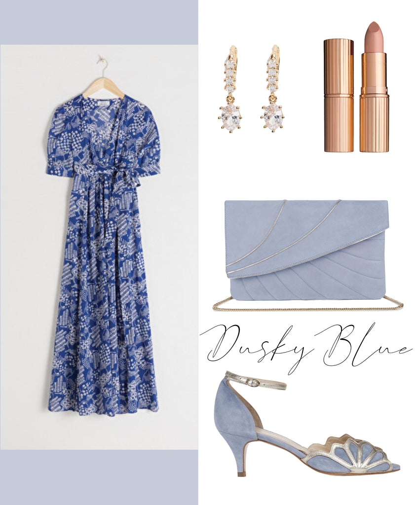 Dusky Blue wedding outfit