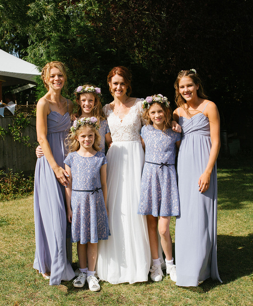 Rachel Simpson bridesmaids powder blue dresses