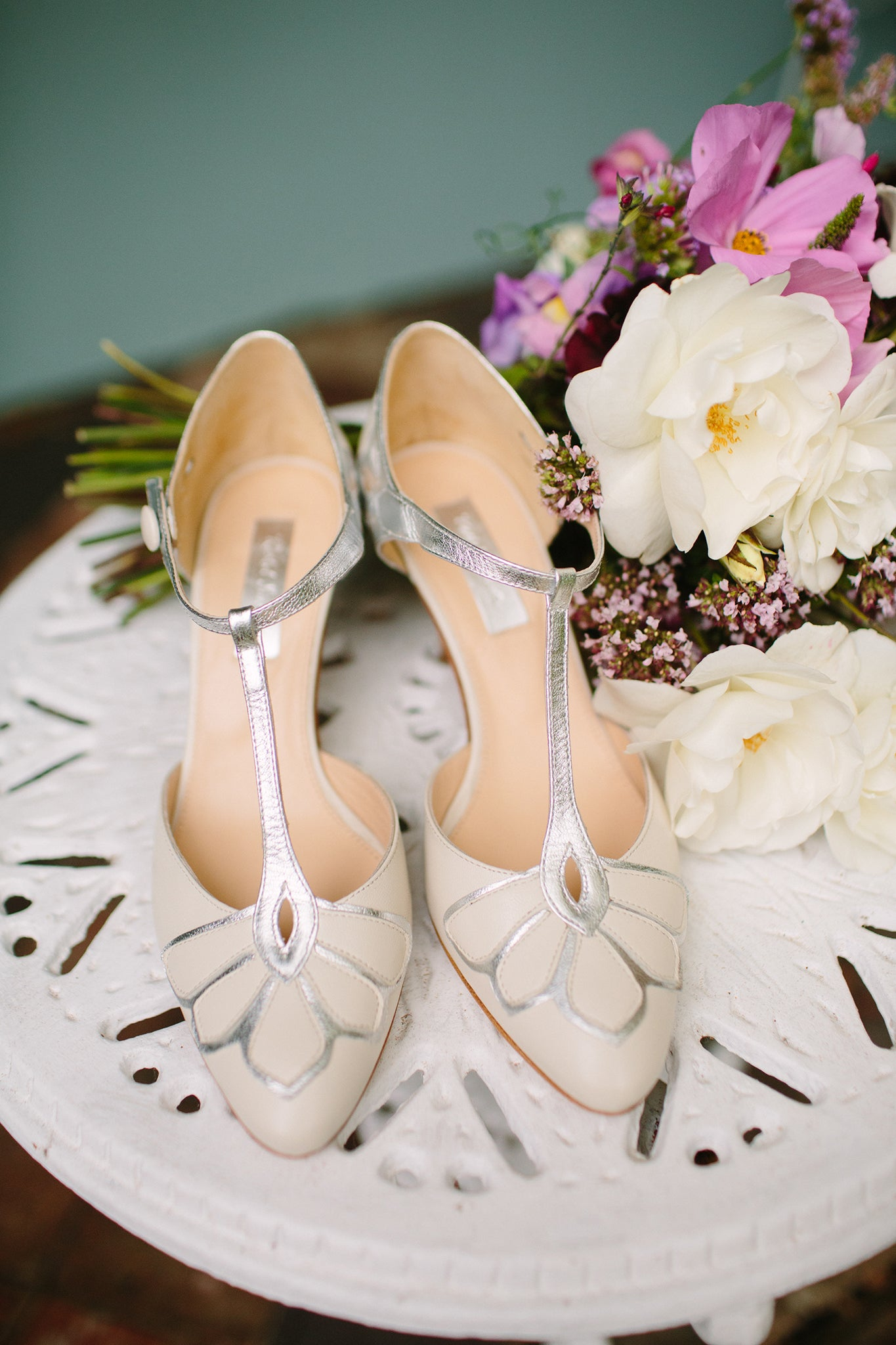 Rachel Simpson Gardenia vintage wedding shoes