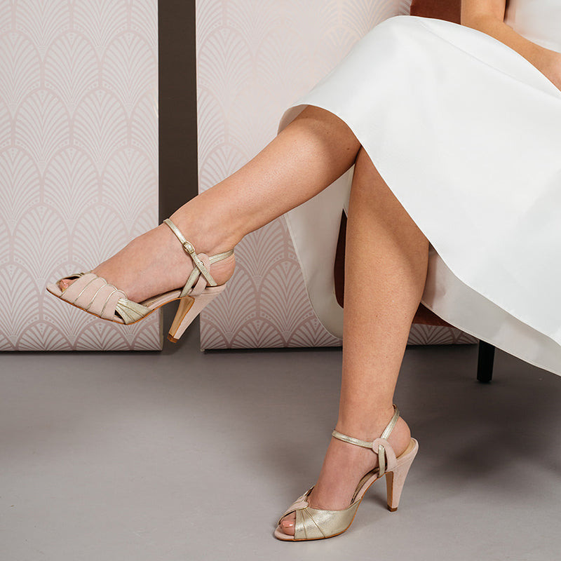 Rachel Simpson Aurelia thicker heel wedding shoes