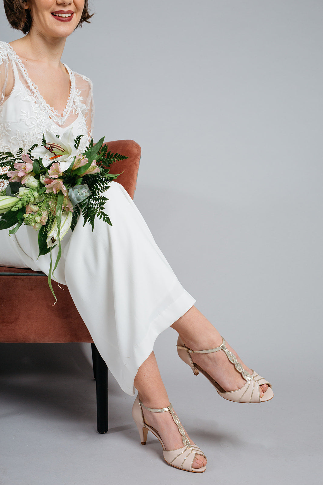 Rachel Simpson Etienne low heel wedding shoes