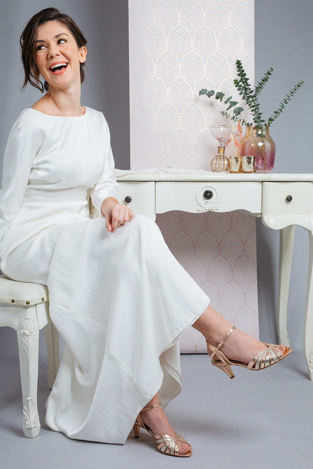 Rachel Simpson Giselle rose gold wedding shoes