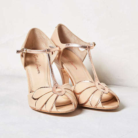 Mimosa rose gold shoes
