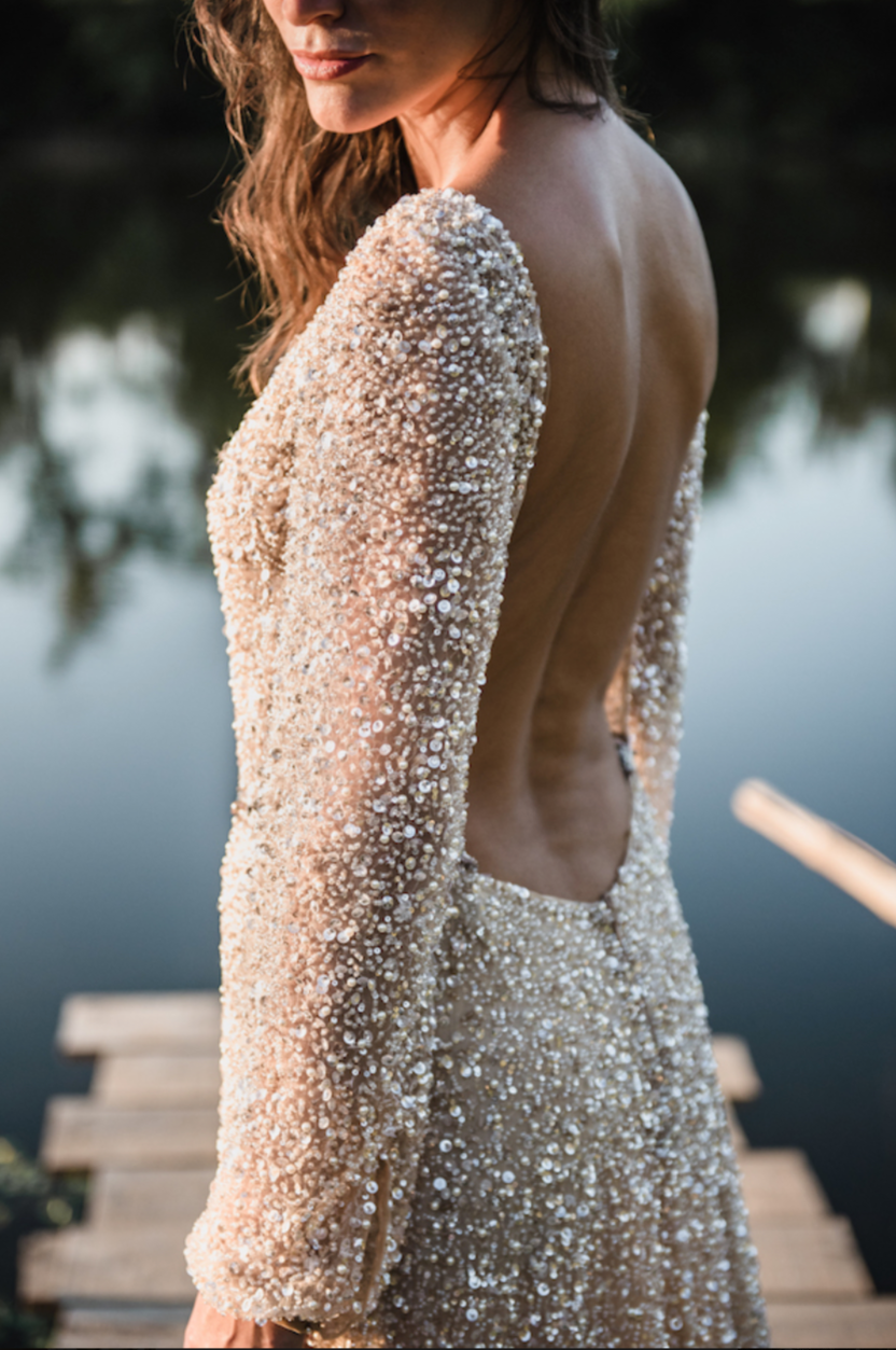 Elise Martimort Celine beaded backless wedding dress