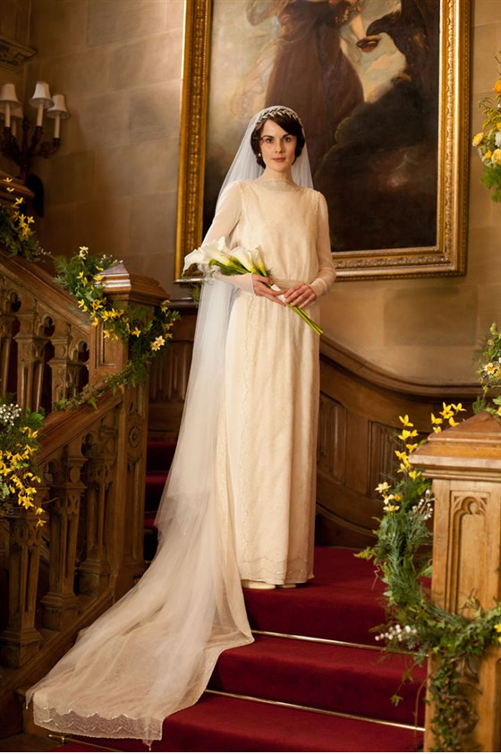 Lady Mary Downton Abbey wedding dress