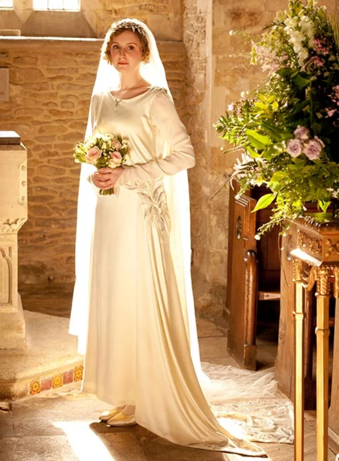 Lady Edith Downton Abbey wedding dress
