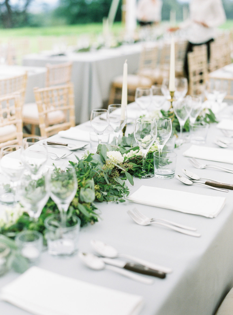 Vanilla Rose Events foliage wedding table setting