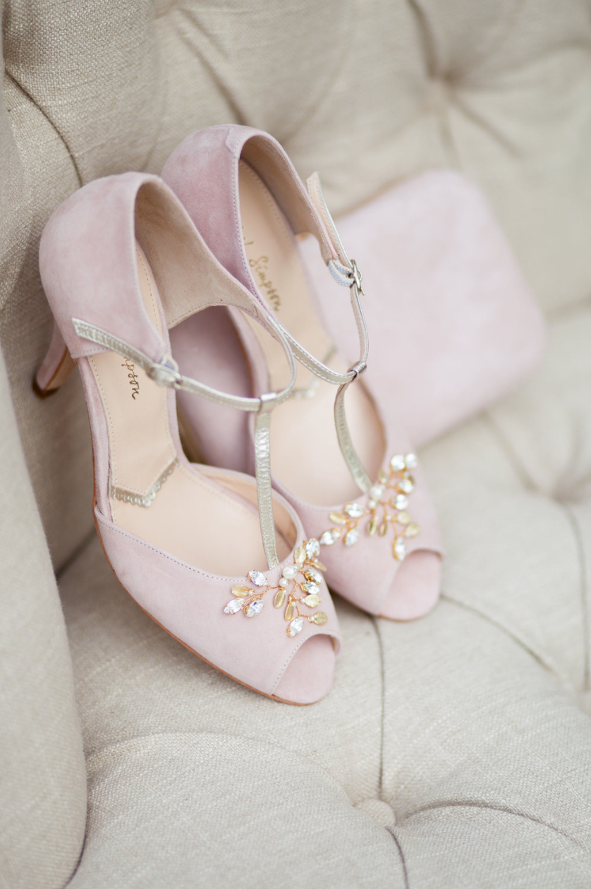 Vanilla Rose Lapstone Barn wedding Rachel Simpson Amalia blush wedding shoes