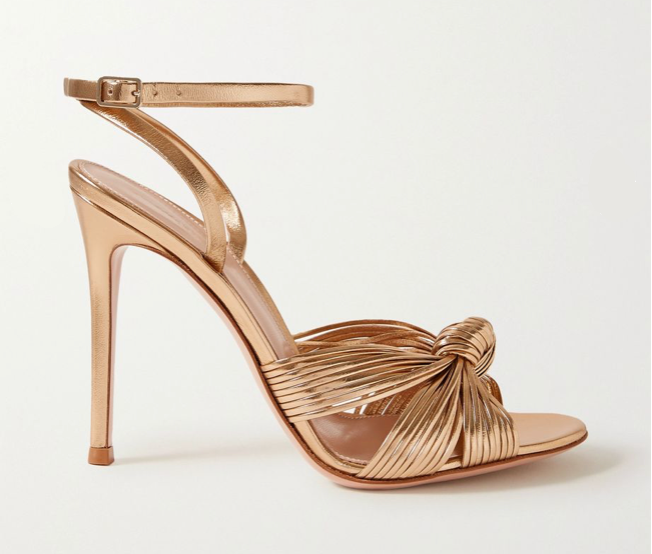 Gianvito Rossi Portia rose gold vintage high heel sandals