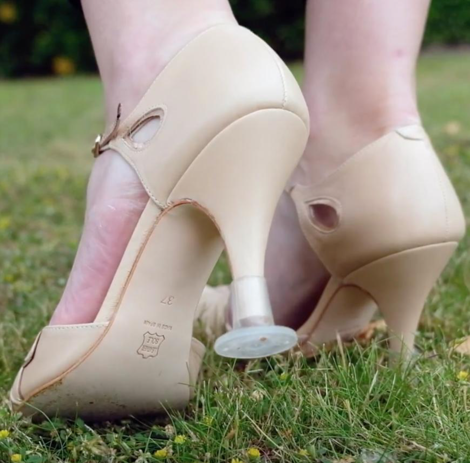 Heel protectors for wedding shoes