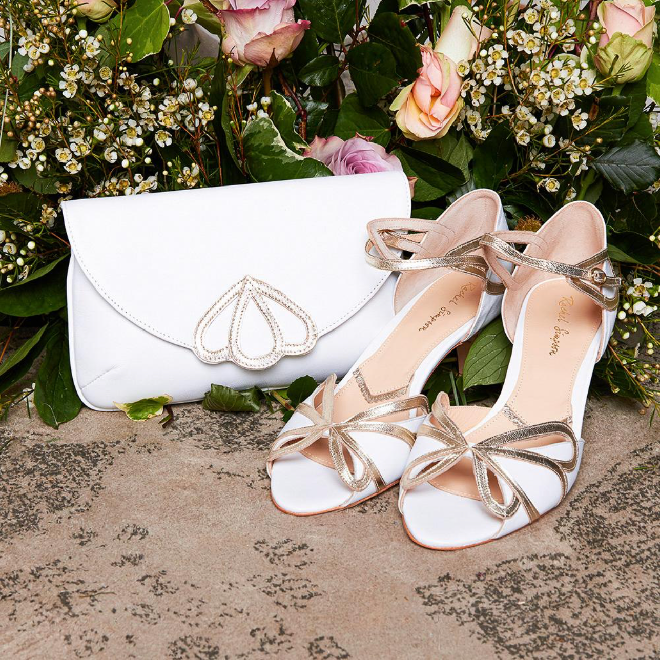 Rachel Simpson Cecelia low heeled wedding shoes