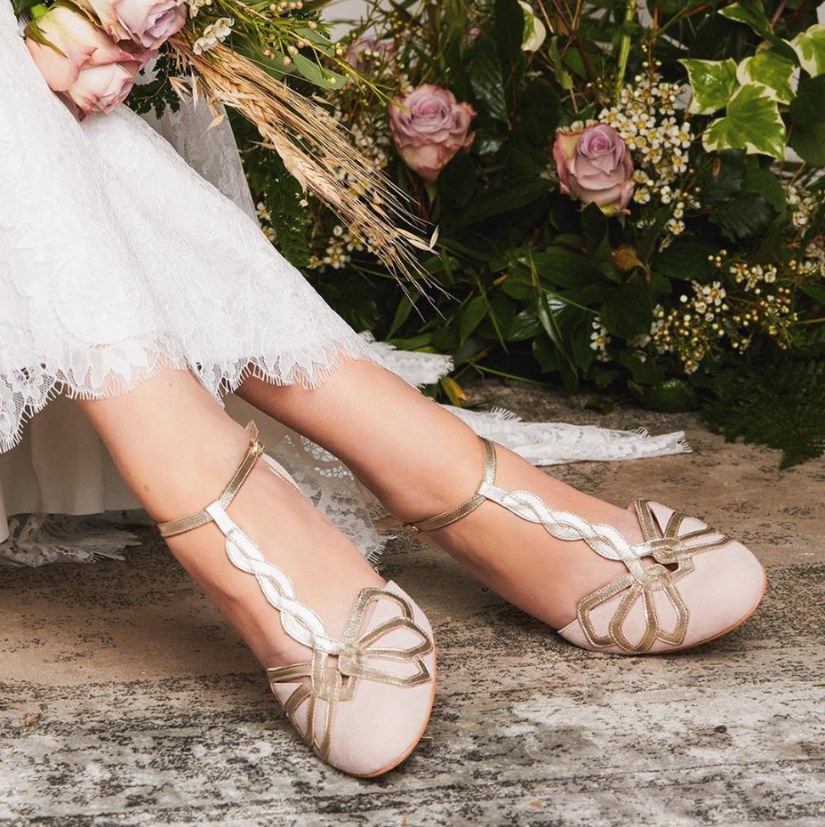 Rachel Simpson Rosita blush wedding shoes