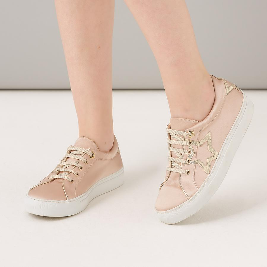 Rachel Simpson Satin Blush Wedding Trainer Starlight