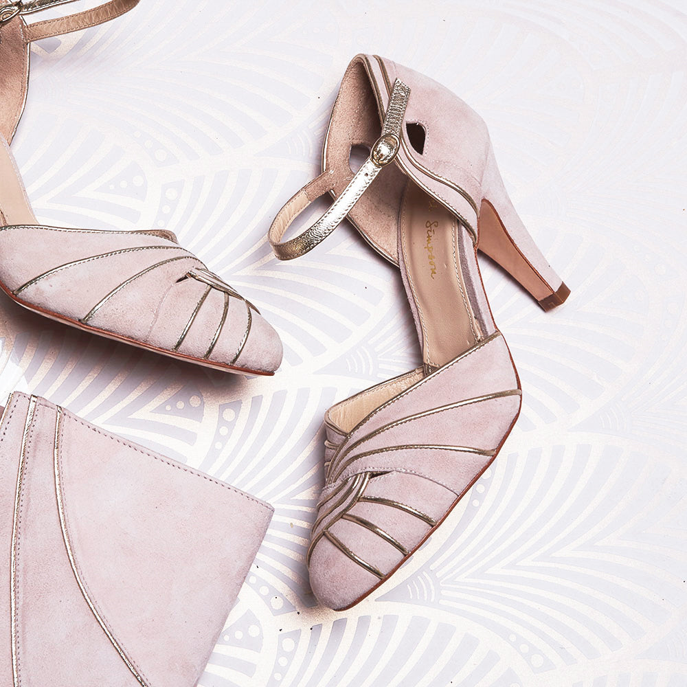 Rachel Simpson Margaux powder pink wedding shoes