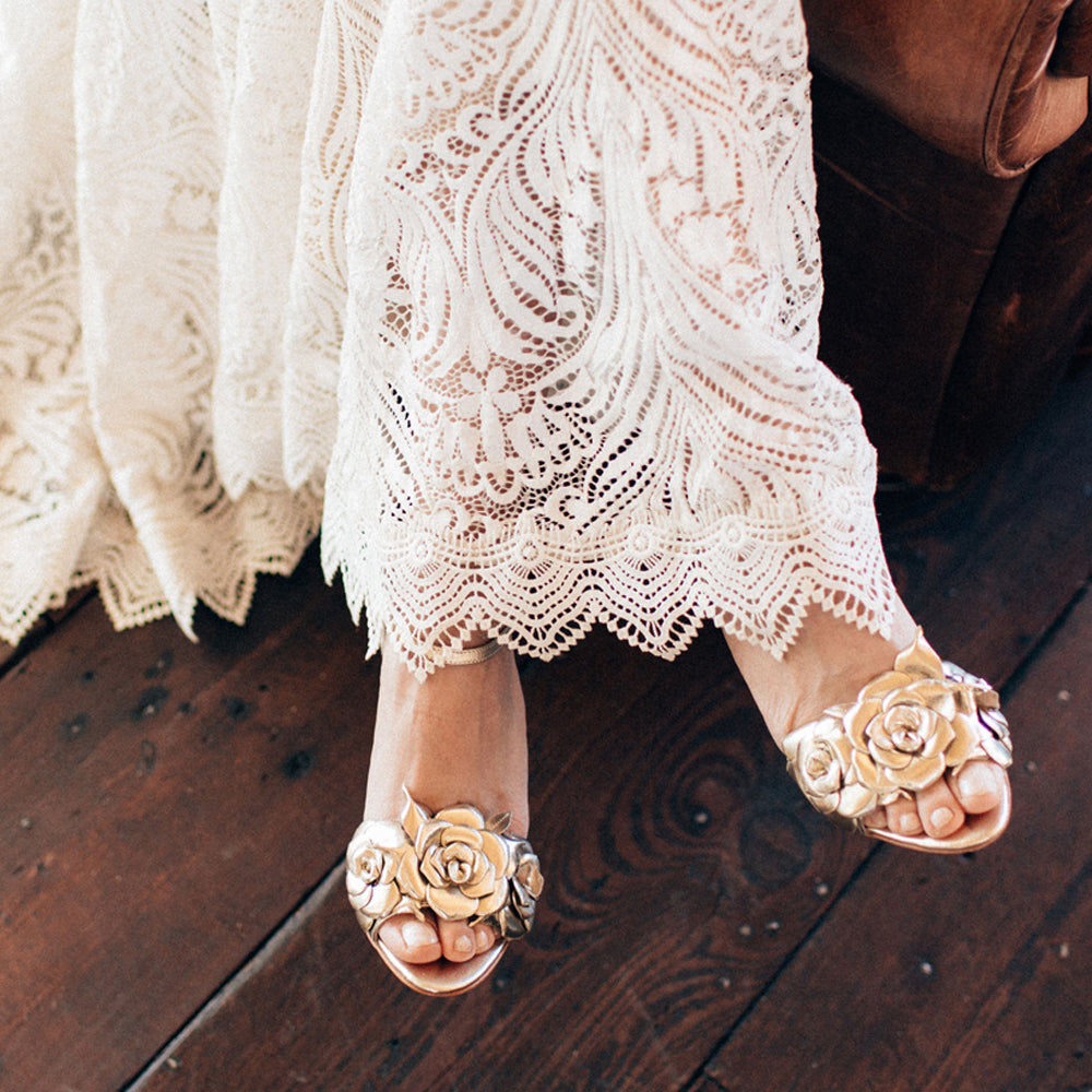 Gold Zadie Wedding Shoes
