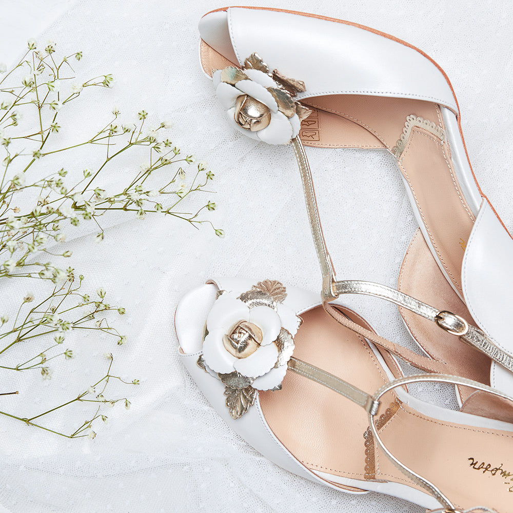 Rachel Simpson Bridal Heels Gabriella Flower Shoes