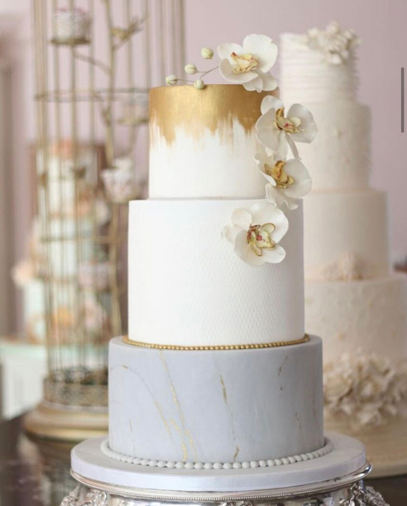 At Your Wish Cakes three tiered wedding cake