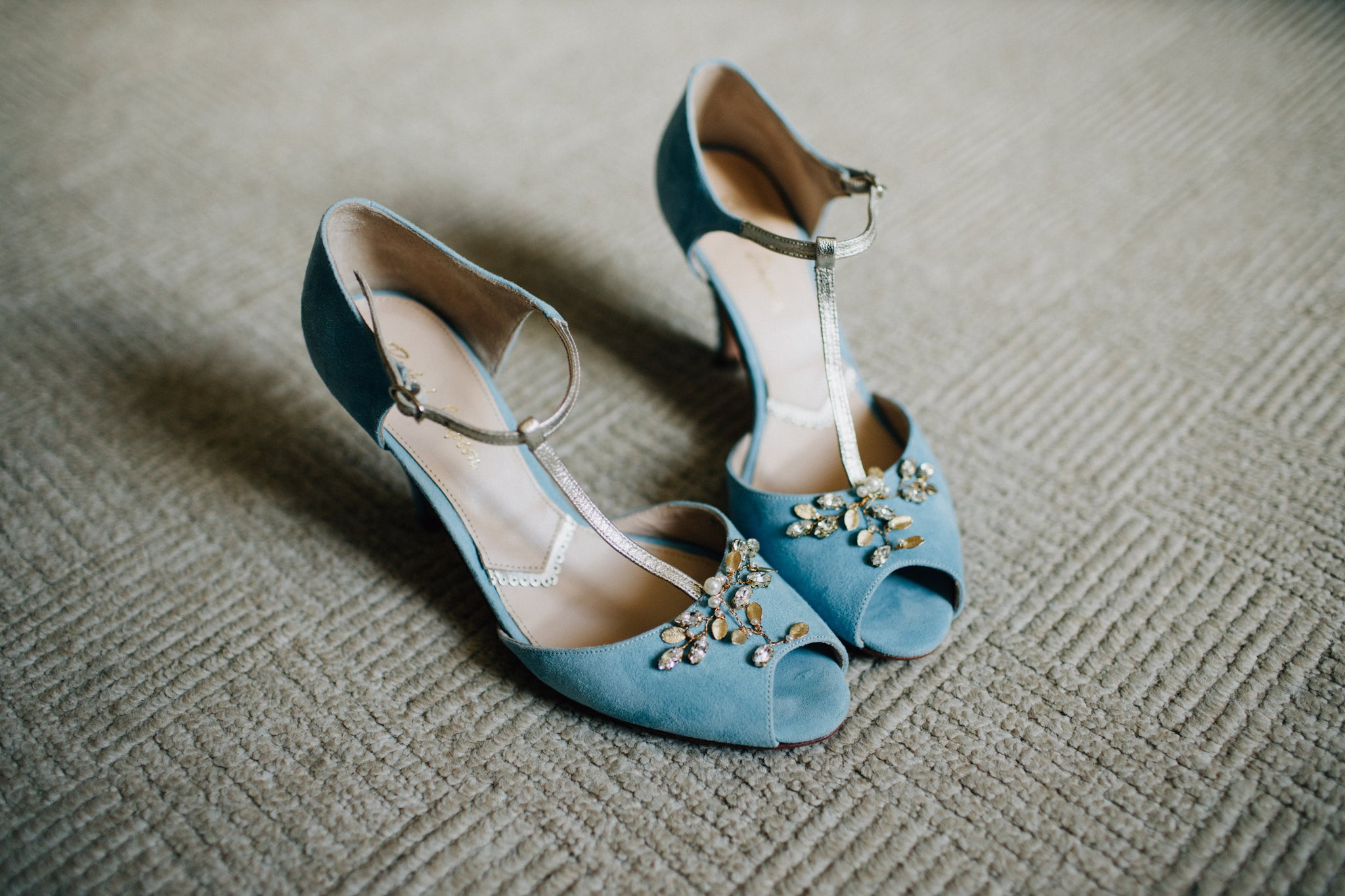Rachel Simpson Shoes Wedding Wednesday Real Bride Amalia Blue Bridal Shoes