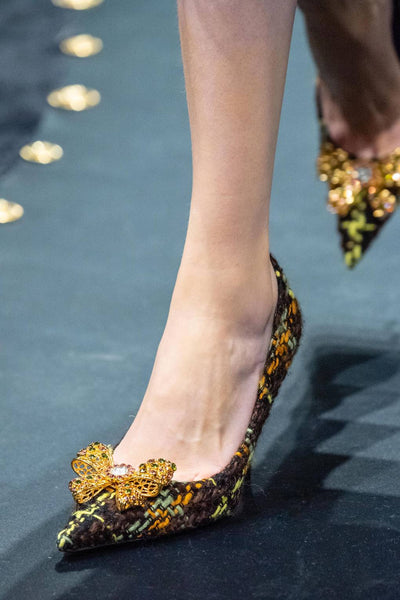 Versace Jewel bow woven courtshoe