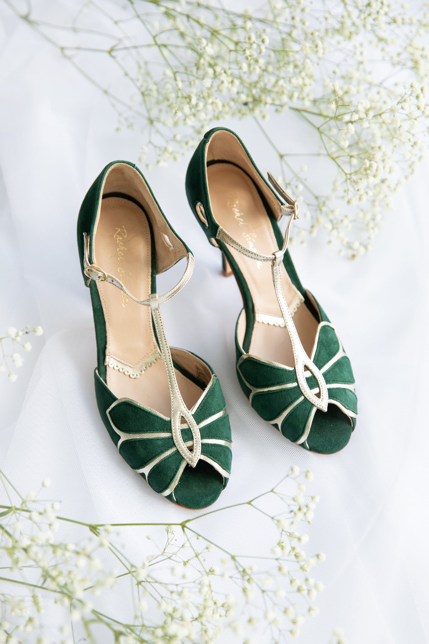 Rachel Simpson Mimosa forest green wedding shoes