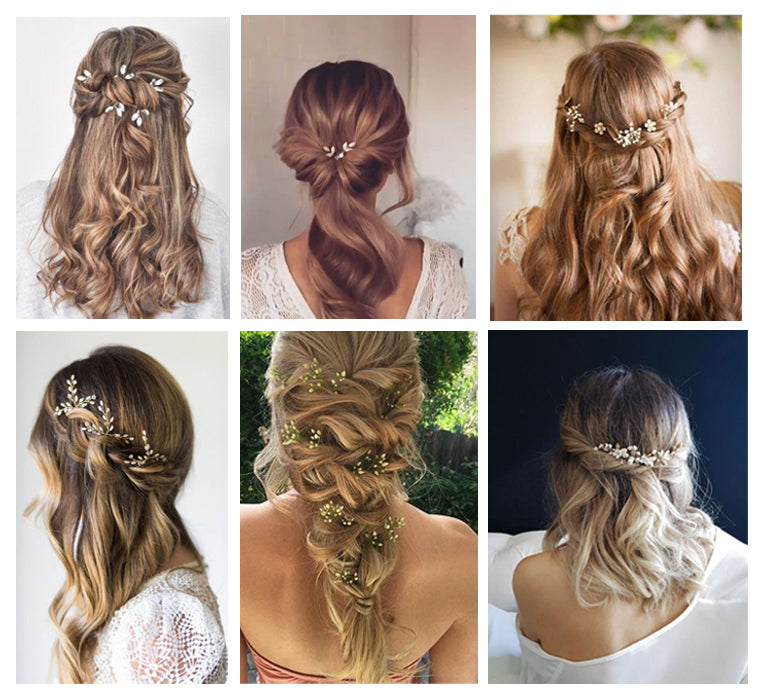 Bridal wedding hair pins hair inspiration